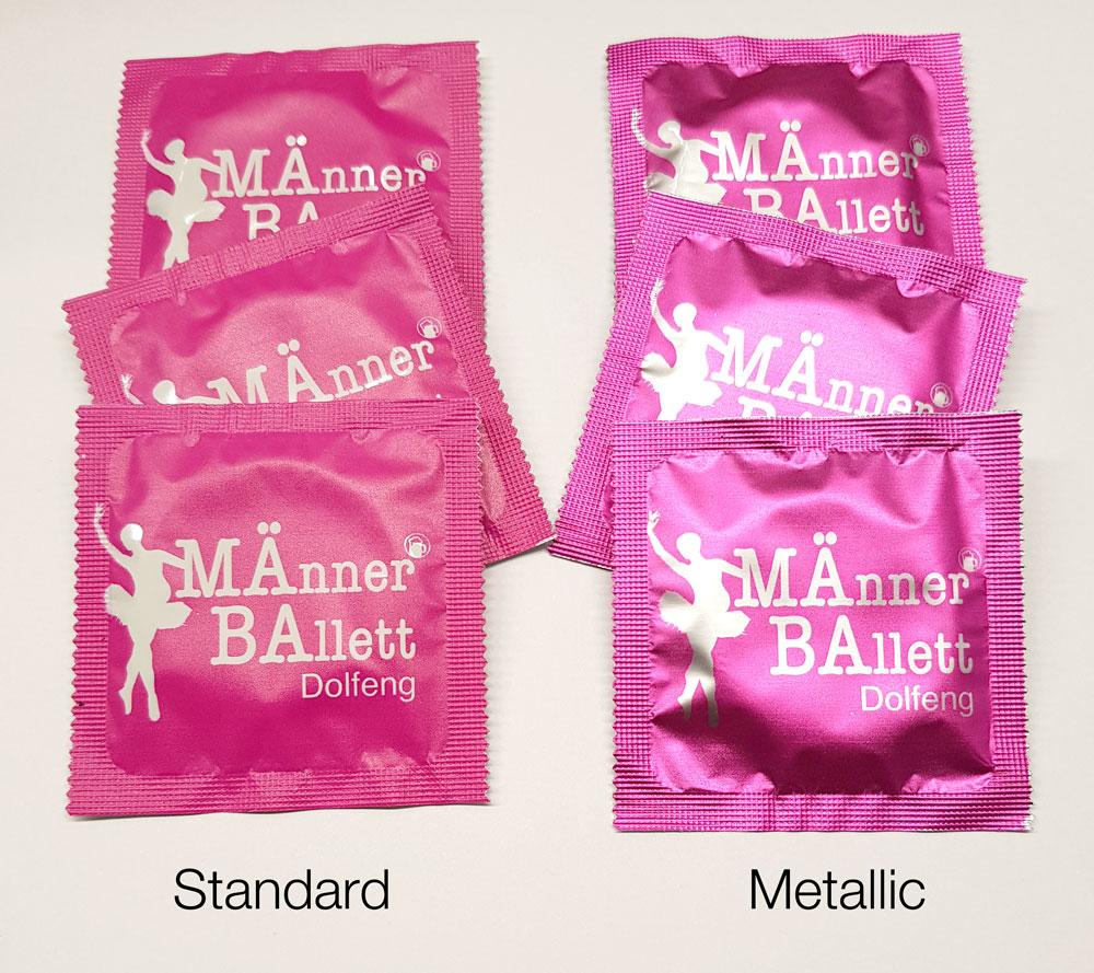 Ab sofort können Sie zwischen Standard- oder Metallic-Druckoptik wählen.