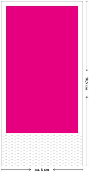 Gefaltetes Endformat 16,5x8,2 cm